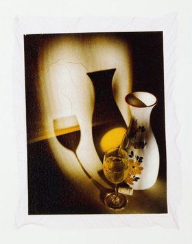 White wine, glass and decanter