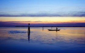Lagoon, dawn, Venedig, Lagune von Venedig, Venetien, Italien