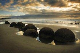 Moeraki Boulders, Clutha-Central Otago, Südinsel, Neuseeland