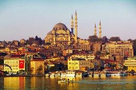 Golden Horn and Suleymaniye Mosque (Suleymaniye Cami), Istanbul, Marmarameer, Türkei