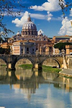 St. Peter, Engelsbrücke, Rom, Latium, Italien