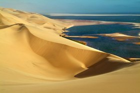 Dunes along the Atlanic ocean coast, Namibe, Angola