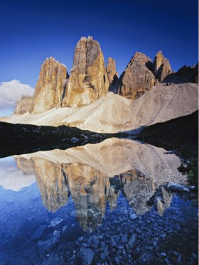 Tre Cime di Lavaredo (Drei Zinnen), Naturpark Sexter Dolomiten, Hochpustertal, Provinz Bolzano, Trentino-S¸dtirol, S¸dtirol, Italien