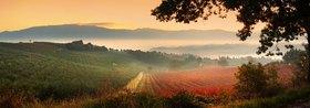 Panoramic view of Castel Ritaldi hills, Provinz Perugia, Umbrien, Italien