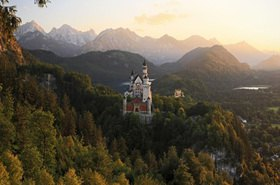 Neuschwanstein Castle, Schwangau near Fuessen, Swabia, Bavaria, Germany