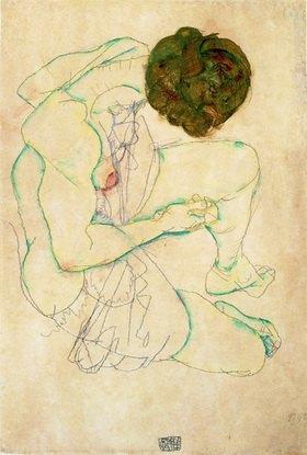 Egon Schiele: Sitzender Frauenakt