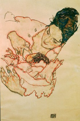 Egon Schiele: Stillende Mutter, 1917. 46 x 29,7 cm