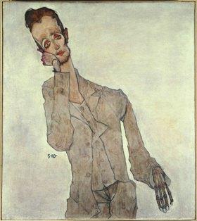 Egon Schiele: Bildnis des Malers Karl Zakovsek. Öl, Gouache und Kohle. 1910. 100 x 89,8 cm