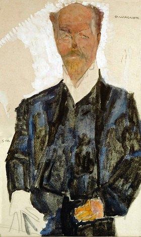 Egon Schiele: Bildnis Otto Wagner. Mischtechnik. Österreich