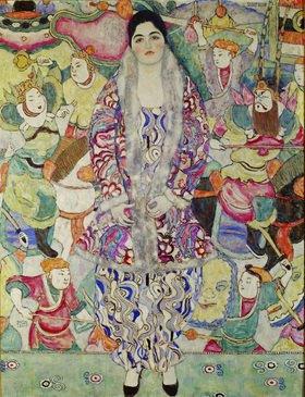 Gustav Klimt: Bildnis Friederike Beer. 168 x 130 cm. Öl auf Leinwand