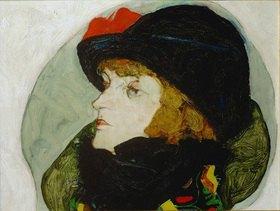 Egon Schiele: Bildnis Ida Roessler Öl auf Holz. 1912. 31,6 x 39,4 cm
