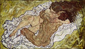 Egon Schiele: Umarmung (Liebespaar)