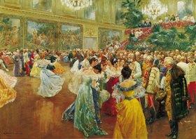 Wilhelm Gause: Der Hofball in Wien. Aquarell