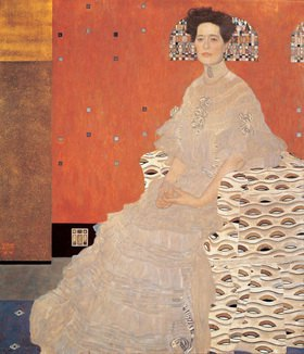 Gustav Klimt: Bildnis Fritza Riedler. 153 x 133 cm. Öl/Lwd