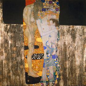Gustav Klimt: Die drei Lebensalter. D141. Öl/Lwd