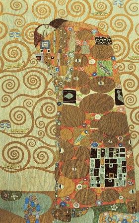"""Gustav Klimt: Werkvorlage für den """"Stocletfries"""": Figurale Komposition """"Die Erfüllung"""", auch """"Umarmung"""""""