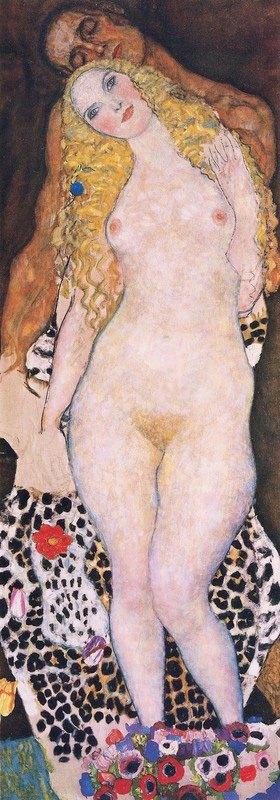Gustav Klimt: Adam und Eva. Öl auf Leinwand, 173 x 160 cm. 1917/18 (unvollendet)