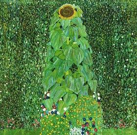 Gustav Klimt: Die Sonnenblume. Öl/Lwd