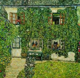 Gustav Klimt: Forsthaus in Weißenbach am Attersee. Öl auf Leinwand