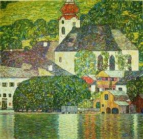 Gustav Klimt: Kirche in Unterach am Attersee.Öl/Lwd von Gustav Klimt