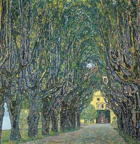 Gustav Klimt: Allee im Park von Schloss Kammer. Öl auf Leinwand