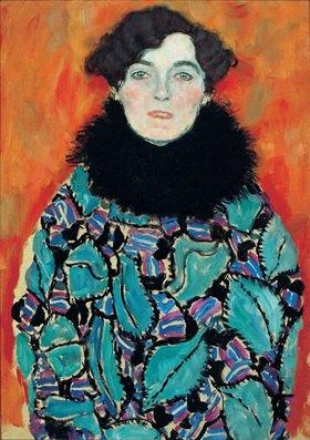 Gustav Klimt: Bildnis Johanna Staude 70x50 cm. Öl auf Leinwand, um 1917/18, unvollendet