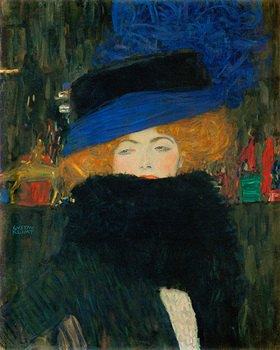 Gustav Klimt: Dame mit Hut und Federboa Öl/Leinwand