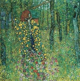 Gustav Klimt: Bauerngarten mit Kruzifix