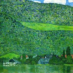 Gustav Klimt: Unterach am Attersee Öl auf Leinwand