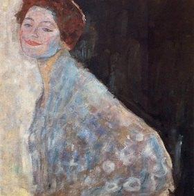 Gustav Klimt: Damenbildnis in Weiss, (Unvollendet) Öl auf Leinwand