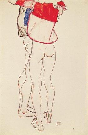 Egon Schiele: Zwei weibliche Torsi (Die Schwestern)