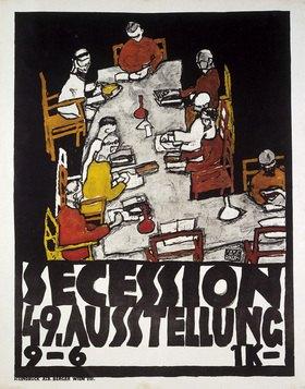 Egon Schiele: Plakat für die im März 1918 eröffnete 49. Ausstellung der Wiener Secession