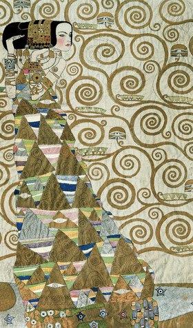 """Gustav Klimt: Werkvorlage für den Stocletfries: Figurale Komposition """"Die Erwartung"""", auch """"Die Tänzerin"""". 195 cm x 120 cm"""