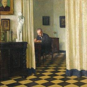 Carl Moll: Carl Moll. Selbstbildnis im Atelier. Öl, 100 x 100 cm