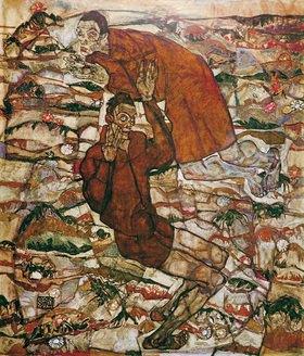 Egon Schiele: Entschwebung (Die Blinden II) Öl/Lwd