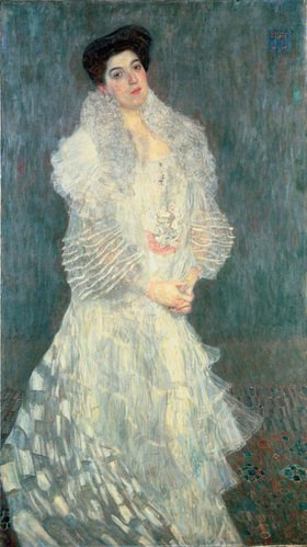Gustav Klimt: Bildnis Hermine Gallia. 170 : 96 cm. Öl/Lwd