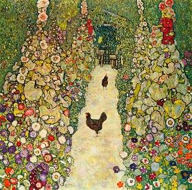 Gustav Klimt: Gartenweg mit Hühnern