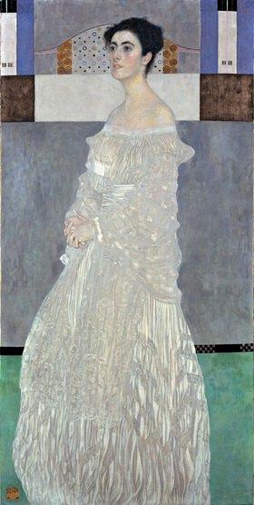 Gustav Klimt: Bildnis Margarethe Stonborough-Wittgenstein. Öl/Lwd, 180 x 90,5 cm