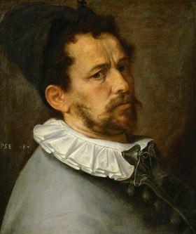 Bartholomäus Spranger: Bartholomäus Spranger. Selbstportrait. 1580-85, Öl auf Leinwand. 62,5 x 45 cm
