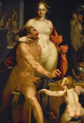 Bartholomäus Spranger: Venus. Aus der Sammlung von  Kaiser Rudolf II. 140 x 95 cm