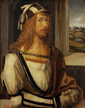 Albrecht Dürer: Albrecht Dürer Selbstportrait, 1498. Holz, 52 x 41 cm