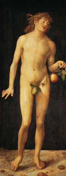 Albrecht Dürer: Adam. Gemälde