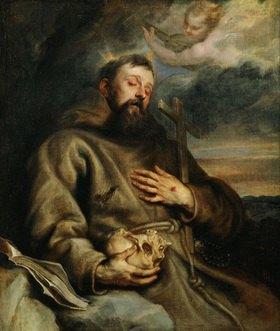 Anthonis van Dyck: Franz von Assisi. Gemälde