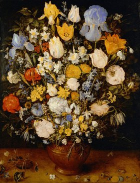 Jan Brueghel d.Ä.: Kleines Blumenbouquet. Öl/Holz (after 1599, probably 1607). 51 x 40 cm