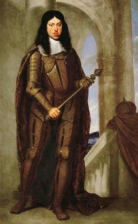Cagnacci Guido: Leopold I (1640-1705) in seiner goldenen Hochzeitsrüstung