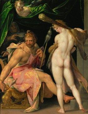 Bartholomäus Spranger: Herkules und Omphale. Kupfer