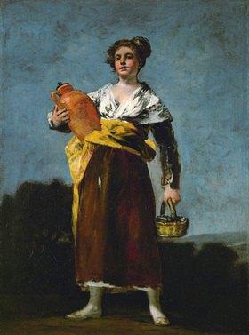 """Francisco José de Goya: Der Wasserträgerin """"La Aguadora"""" vor"""