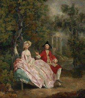 Thomas Gainsborough: Der Künstler und seine Frau Margaret in einem Park. Gemälde