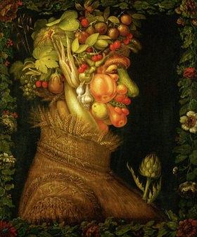 Giuseppe Arcimboldo: Sommer, Allegorie. Gemälde