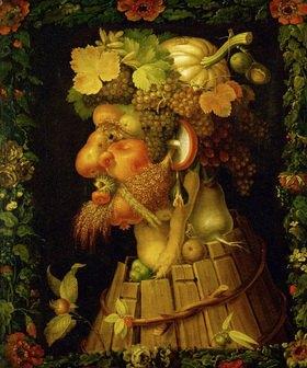 Giuseppe Arcimboldo: Herbst, Allegorie. Gemälde